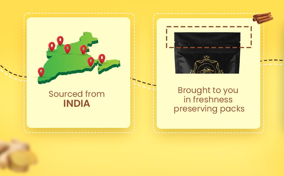 tea sense health and glow tea freshness pack made in india