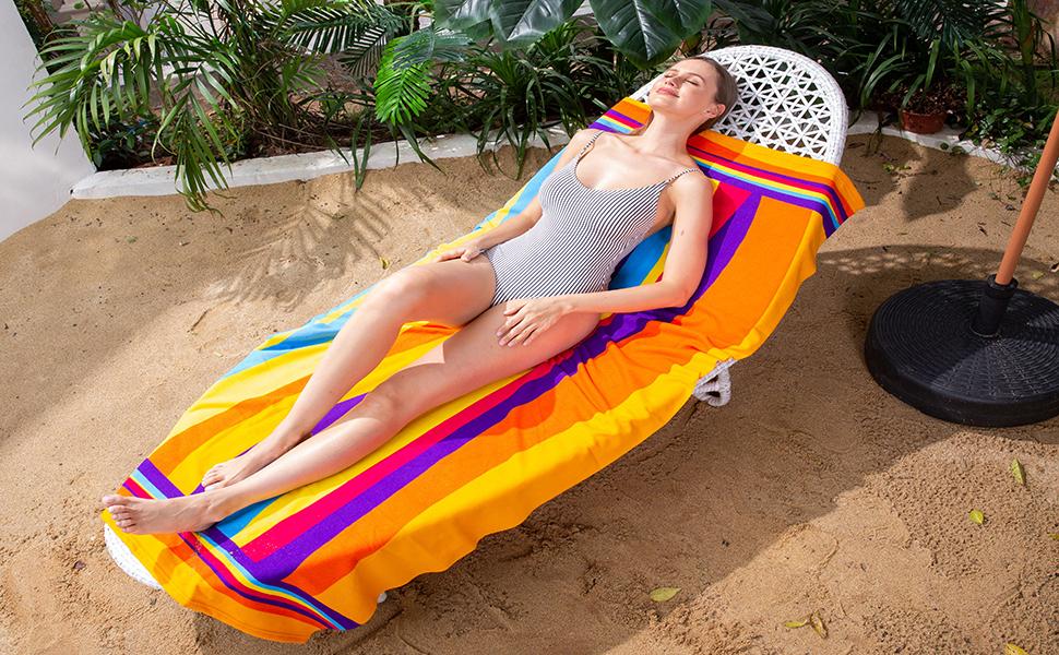 Oversized beach towel sand free