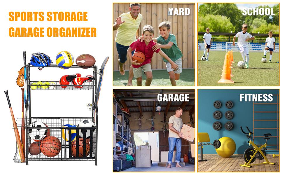 ball storage rack for garage