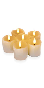 Flameless Votive Candles with Timer