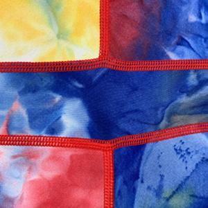 Yoga Tie Dye Shorts for Women Workout Print Tummy Control Biker High Waist Shorts