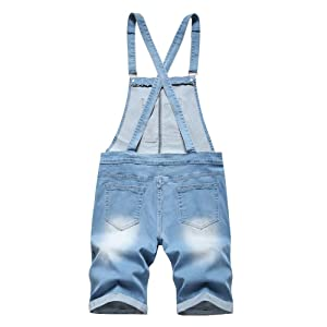Mens Denim Shorts Bib Overalls Summer Jumpsuit  short overalls for men short denim overalls toddler