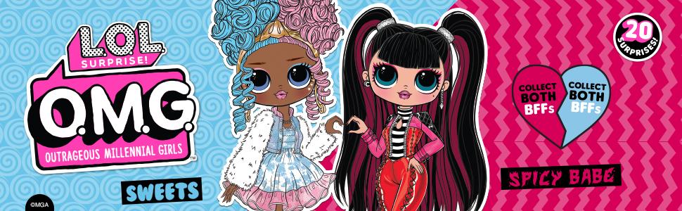 LOL Surprise OMG Serie 4 bambola alla moda SPICY BABE con 20 sorprese