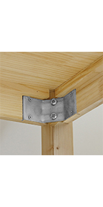 Table Leg to Apron Mounting Brackets