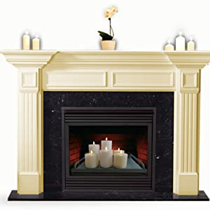 The candle holder tray for fireplace