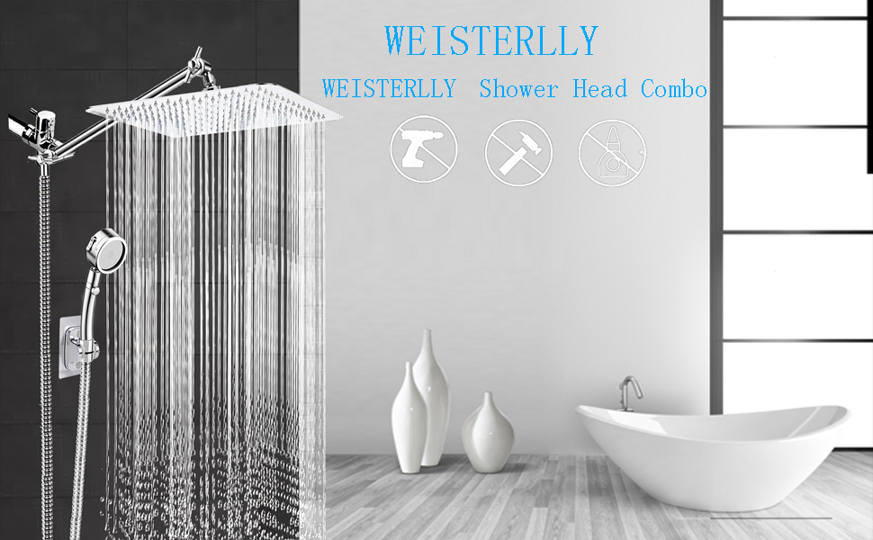 WEISTERLLY Shower Head Combo