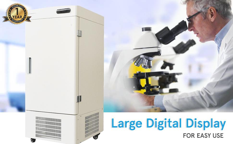 Large Digital Display Lab Freezer