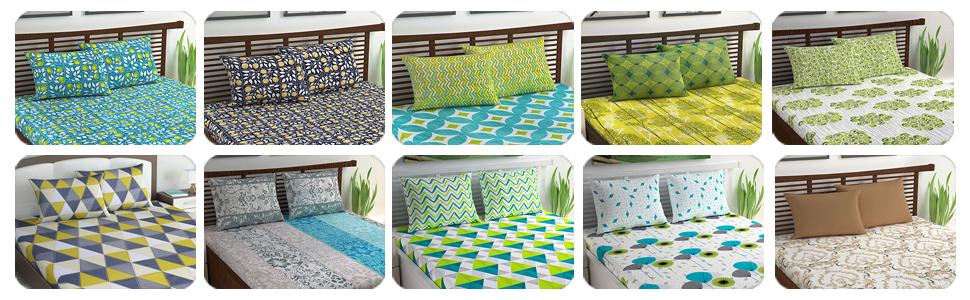 loreto double bedsheet with pillow cover