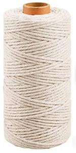 Wit Macrame katoenen touw koord 3MM