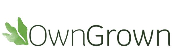 The OwnGrown logo. We are a small company creating with love plant seeds and garden accessories.