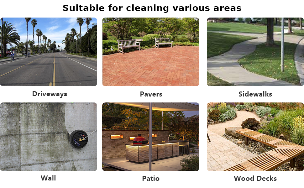 Suitable for cleaning various areas