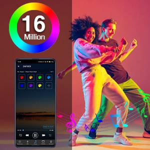 16 Million Colors & Music Mode