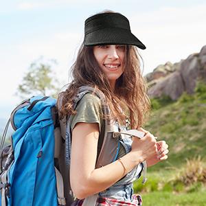 Sombreros de Playa Mujer Viseras de Sombrero de Paja Plegables enrollables de ala Ancha