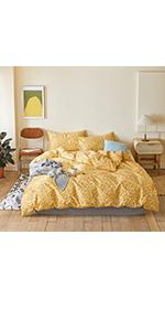 yellow duvet cover queen