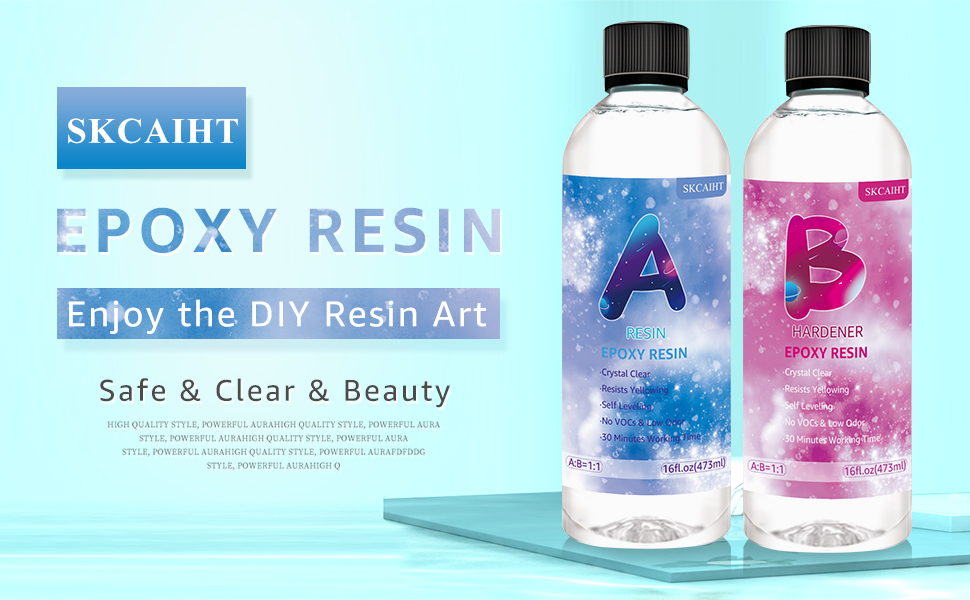 SKCAIHT Epoxy Resin can be easily used by both beginners and resin artist