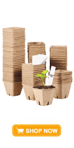 """100 Pcs 2.4"""" Peat Pots with 20 Plant Markers, Plant Seedling Saplings amp;amp;amp; Herb Seed Starters"""