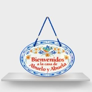 Welcome Sign Abuelo y Abuela essence of europe gifts EHG