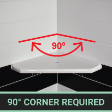 90 degree corner required