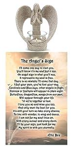 angel tea light candle holder loss grief sympathy memorial