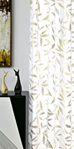 white sheer curtian panles White and Gold Curtains sheer curtain sheer curtains 84 inches long