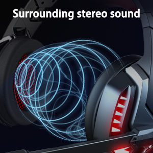 Gamer Headphones for PS4,PS5,Nintendo Switch,Xbox One,PC,Laptop