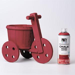 Pintyplus Chalk Finish Spray Paint Red Velvet