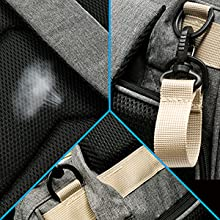 breathable back pad,Stroller Straps ,reinforced at all seams