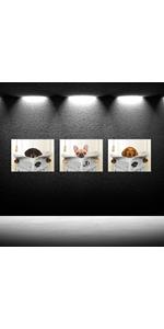 Animal Oil Painting on Canvas Hang Picture Read the Newspaper Dog for Living Room Decor