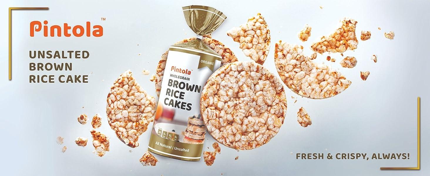 Pintola Unsalted Brown Rice cake