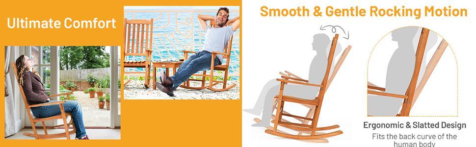 Rocking Chair 3 Piece Set