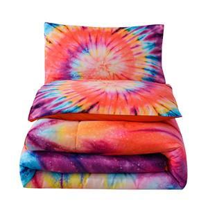 Tie Dye orange comforter set