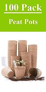 100Pack peat pots
