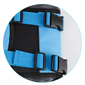 djustable belts and quick-release buckles