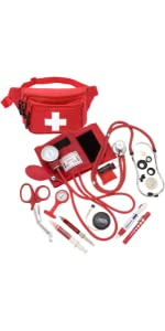 ASA Techmed Lifeguard Fanny Pack with Blood Pressure Kit, Stethoscope, CPR Shield and Accessories