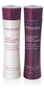 anti thinning shampoo and conditioner for hair growth with keratin and biotin