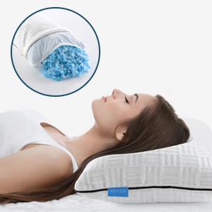 Shredded memory foam pillow