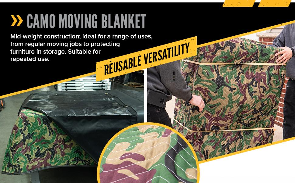 camo moving blanket for a variety of uses