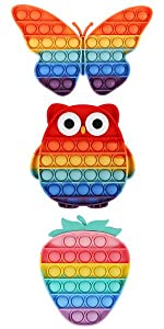 push pop bubble sensory fidget toy,rainbow