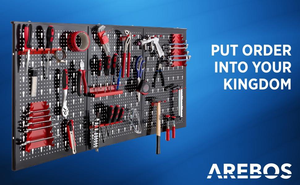 17-delige gereedschapsmuur van AREBOS