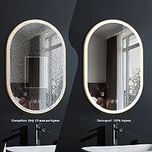 bathroom mirror with antifog