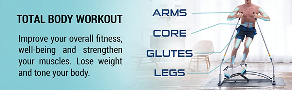 Total body workout, improve your overall fitness, well-being and strengthen your muscles