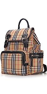 Plaid diaper backpack