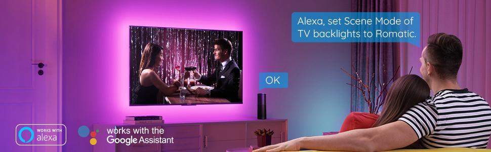 govee scene mode led light kit tv led backlights