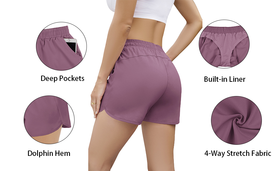 Aloodor Athletic Shorts for Women