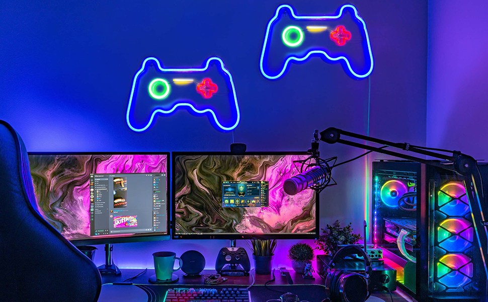 game room decor neon signs