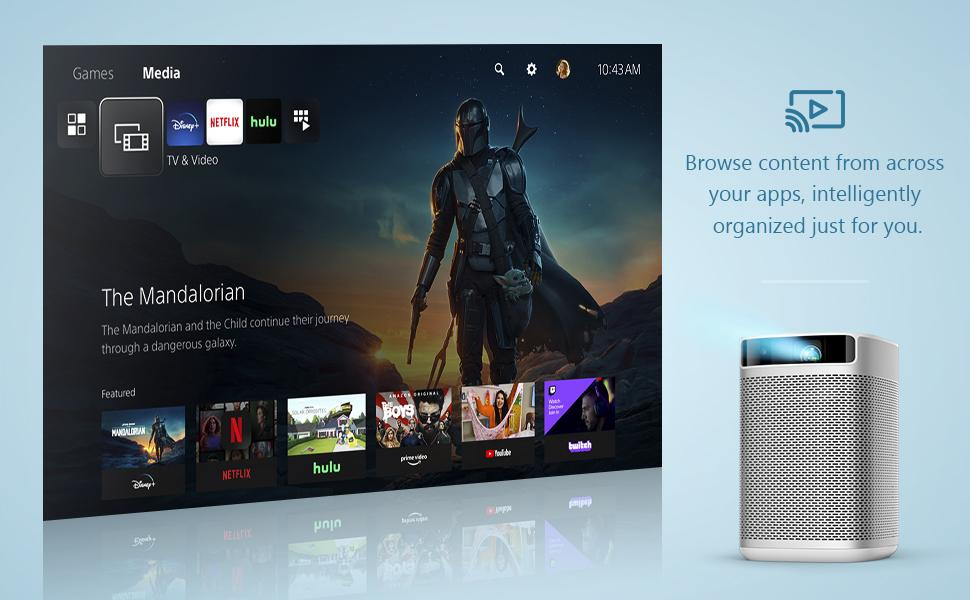 Native Android TV System Android projector smart projector