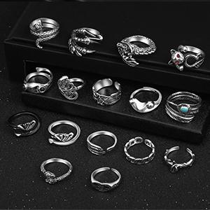 16pcs of different rings
