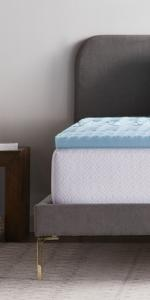 Zoned gel infused mattress topper