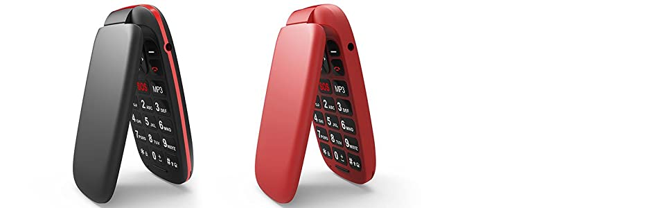 flip phone red and black
