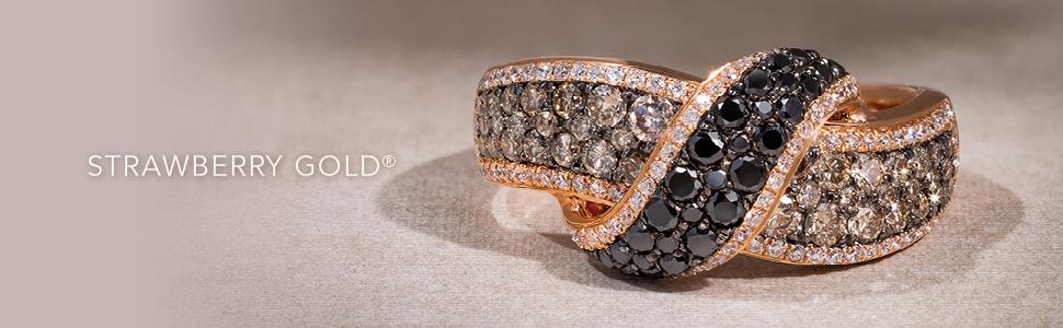 Le Vian exclusive European designer jewelry haute custom expensive look rose pink black hills 14K